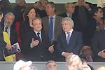 Real Madrid's president Florentino Perez and Atletico de Madrid's president Enrique Cerezo during La Liga match between Real Madrid and Atletico de Madrid at Santiago Bernabeu Stadium in Madrid, April 08, 2017. Spain.<br /> (ALTERPHOTOS/BorjaB.Hojas)