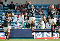 Arsenal vs Leeds United - Womens FA Cup Final at Millwall Football Club - 01/05/06 - (l to r) Mary Phillip, Rachel Yankey and Lianne Sanderson warm up prior to kick-off - (Gavin Ellis 2006)
