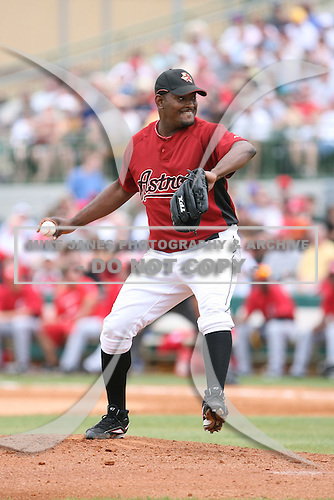 March 22nd 2008:  Jose Valverde of the Houston Astros during a Spring Training game at Osceola County Stadium in Kissimmee, FL.  Photo by:  Mike Janes/Four Seam Images