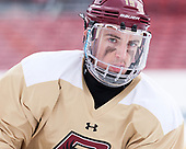 Ryan Fitzgerald (BC - 19) - The Boston College Eagles practiced at Fenway on Friday, January 6, 2017, in Boston, Massachusetts.