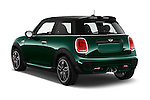 Car pictures of rear three quarter view of 2016 MINI MINI JCW 3 Door Hatchback Angular Rear