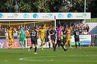 9th October 2021;  VBS Community Stadium, Sutton, London; EFL League 2 football, Sutton United versus Port Vale; Nathan Smith (6) of Port Vale celebrates his goal for 0-1 in the 21st minute