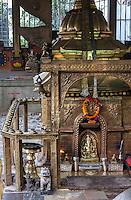 Nepal, Kathmandu.  Shrine to Ganesh.
