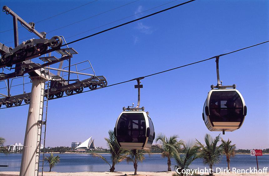 Vereinigte arabische Emirate (VAE, UAE), Dubai, Seilbahn im Creekside Park