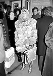 Sylvia Miles attending the Lee Strasberg Memorial Service at the Shubert Theater, Broadway, New York City. <br />February 1982