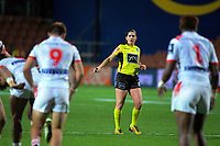 Referee Kasey Badger during the Holden Cup rugby league match between the NZ Warriors and St George-Illawarra Dragons at FMG Stadium, Hamilton, New Zealand on Friday, 19 May 2017. Photo: Dave Lintott / lintottphoto.co.nz