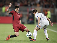 Football Soccer: UEFA Champions League AS Roma vs Chelsea Stadio Olimpico Rome, Italy, October 31, 2017. <br /> Roma's Diego Perottii (i) in action with Chelsea's Cesar Azpillicueta (r) during the Uefa Champions League football soccer match between AS Roma and Chelsea at Rome's Olympic stadium, October 31, 2017.<br /> UPDATE IMAGES PRESS/Isabella Bonotto