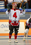 Amy Alsop from Saskatoon in action in a victory against USA. The Canadian team won the gold.<br /> (Benoit Pelosse photographe)