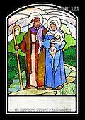 Randy, HOLY FAMILIES, HEILIGE FAMILIE, SAGRADA FAMÍLIA, paintings+++++SGgc-Holy-Family-Walking,USRW181,#xr# ,church window, stained glass
