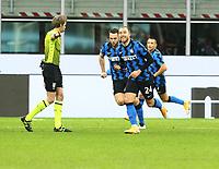 Milano  26-01-2021<br /> Stadio Giuseppe Meazza<br /> Coppa Italia Tim 2020/21<br /> Inter - Milan nella foto: Eriksen esultanza                                                         <br /> Antonio Saia Kines Milano