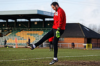 Pictured: Goalkeeper James Bittner. Thursday 18 January 2018<br /> Re: Players and staff of Newport County Football Club prepare at Newport Stadium, for their FA Cup game against Tottenham Hotspur in Wales, UK