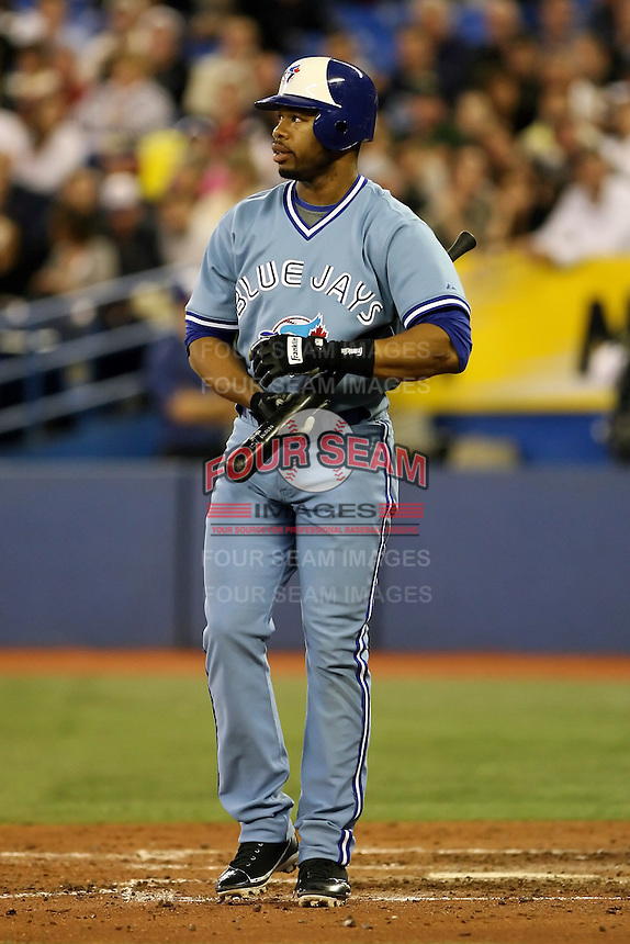 May 23rd 2008:  Outfielder Shannon Stewart (23) of the Toronto Blue Jays during a game at the Rogers Centre in Toronto, Ontario, Canada .  Photo by:  Mike Janes/Four Seam Images