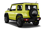 Car pictures of rear three quarter view of 2019 Suzuki Jimny GLX 5 Door SUV Angular Rear