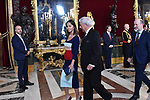 Isabel Preysler and Mario Vargas Llosa attends to Sapnish National Day palace reception at the Royal Palace in Madrid, Spain. October 12, 2018. (ALTERPHOTOS/A. Perez Meca)
