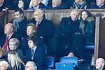 Charles Green and companion in the directors box with Jim Traynor and Andrew Dickson