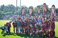 STANFORD, CA - October 21, 2018: Team at Laird Q. Cagan Stadium. No. 1 Stanford Cardinal defeated No. 15 Colorado Buffaloes 7-0 on Senior Day.