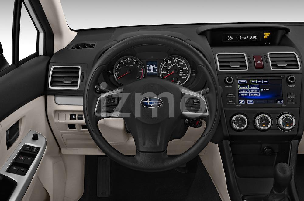 Car pictures of steering wheel view of a 2015 Subaru Base Impreza 5 Door Hatchback