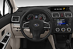 Car pictures of steering wheel view of a 2015 Subaru Base Impreza 5 Door Hatchback