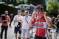 Moreno Hofland (NED/Lotto-Soudal) pre-stage getting ready<br /> <br /> Stage 17: Tirano › Canaze (219km)<br /> 100th Giro d'Italia 2017