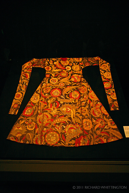 A collection of gowns and other imperial costumes are displayed in the Hall of the Campaign Pages in the Topkapi Palace.
