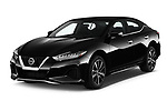 2020 Nissan Maxima SV 4 Door Sedan Angular Front stock photos of front three quarter view