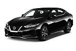 2020 Nissan Maxima SV 4 Door Sedan Angular Front stock photos of front three quarter view