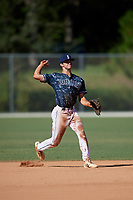 Connor Walsh during the WWBA World Championship at the Roger Dean Complex on October 20, 2018 in Jupiter, Florida.  Connor Walsh is a shortstop from Niceville, Florida who attends Niceville Senior High School and is committed to Mississippi.  (Mike Janes/Four Seam Images)