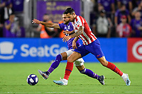 Orlando, FL - Wednesday July 31, 2019:  Vitolo #20, Graham Zusi #28 during an Major League Soccer (MLS) All-Star match between the MLS All-Stars and Atletico Madrid at Exploria Stadium.