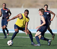 Juan Agudelo and Alex Shinsky training. 2009 CONCACAF Under-17 Championship From April 21-May 2 in Tijuana, Mexico