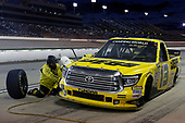NASCAR Camping World Truck Series<br /> M&M's 200 presented by Casey's General Store<br /> Iowa Speedway, Newton, IA USA<br /> Friday 23 June 2017<br /> Cody Coughlin, JEGS Toyota Tundra pit stop<br /> World Copyright: Brett Moist<br /> LAT Images