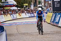 Rigoberto Urán (COL/EF Education - Nippo) finishing<br /> <br /> Men Elite Individual Time Trial <br /> from Knokke-Heist to Bruges (43.3 km)<br /> <br /> UCI Road World Championships - Flanders Belgium 2021<br /> <br /> ©kramon