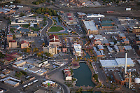 Dusk aerial of Pueblo, CO