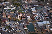 Dusk aerial of Pueblo, CO