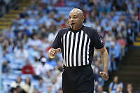 CHAPEL HILL, NC - FEBRUARY 25: Official Bill Covington during a game between NC State and North Carolina at Dean E. Smith Center on February 25, 2020 in Chapel Hill, North Carolina.
