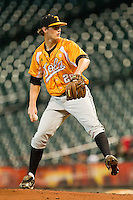 Tennessee Volunteers starting pitcher Drew Steckenrider #20 in action against the Houston Cougars at Minute Maid Park on March 2, 2012 in Houston, Texas.  The Cougars defeated the Volunteers 7-4.  (Brian Westerholt/Four Seam Images)
