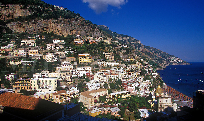 Mediterranean seaside village, Positano, Italy