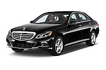 2015 Mercedes Benz E-Class E250 BlueTEC Luxury 4 Door Sedan angular front stock photos of front three quarter view