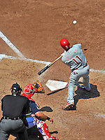 30 May 2011: Philadelphia Phillies shortstop Jimmy Rollins in action against the Washington Nationals at Nationals Park in Washington, District of Columbia. The Phillies defeated the Nationals 5-4 to take the first game of their 3-game series. Mandatory Credit: Ed Wolfstein Photo