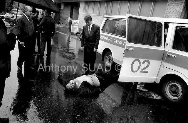 Moscow, Russia .1995.Yuri Densov, the Vice General for international Customs, is gunned down in the streets of Moscow. One bullet to the head took his life as he got out of his BMW. It was a busienss related professional killing.