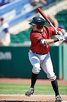 Robby Rinn (49) of the Idaho Falls Chukars bats against the Ogden Raptors in Pioneer League action at Lindquist Field on July 2, 2017 in Ogden, Utah. Ogden defeated Idaho Falls 6-5. (Stephen Smith/Four Seam Images)