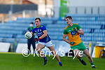 Dara Moynihan, Kerry in action against Caolan Ward, Donegal during the Allianz Football League Division 1 Round 7 match between Kerry and Donegal at Austin Stack Park in Tralee on Saturday.