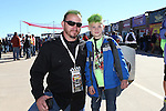 NASCAR fans enjoy the No Limits Garage Party activities before the NASCAR Sprint Cup Series AAA 500 race at Texas Motor Speedway in Fort Worth,Texas.