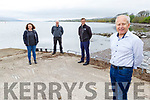 Kenmare Peninsula Action Group received €19,000 for a feasibility study for a community amenity in Kenmare, pictured at the pier in Kenmare. <br /> Front: Mickey Ned O'Sullivan Chairman Kenmare Peninsula Action Group).<br /> L to r: Helen McDwyer (Kenmare Marketing Events Group), Donal O'Sullivan (KCC) and Sen Mark Daly.