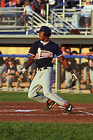 Lowell Spinners infielder Hanley Ramirez at bat a game at Dwyer Stadium in Batavia, New York during the 2002 season.  Photo By Mike Janes/Four Seam Images
