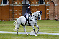 AUS-Courtney Romcke rides Coriolis during the Dressage for the CCI-L 2* Section A. 2021 GBR-Saracen Horse Feeds Houghton International Horse Trials. Hougton Hall. Norfolk. England. Thursday 27 May 2021. Copyright Photo: Libby Law Photography