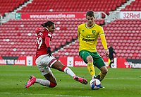 Middlesbrough's Djed Spence battles with Norwich City's Jacob Lungi Sorensen<br /> <br /> Photographer Alex Dodd/CameraSport<br /> <br /> The EFL Sky Bet Championship - Middlesbrough v Norwich City - Saturday 21st November 2020 - Riverside Stadium - Middlesbrough<br /> <br /> World Copyright © 2020 CameraSport. All rights reserved. 43 Linden Ave. Countesthorpe. Leicester. England. LE8 5PG - Tel: +44 (0) 116 277 4147 - admin@camerasport.com - www.camerasport.com