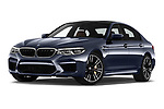 Stock pictures of low aggressive front three quarter view of a 2018 BMW M5 Base 4 Door Sedan