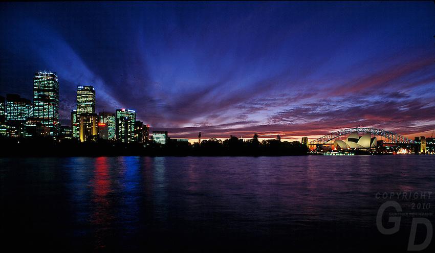 Sydney Harbour and Opera House, NSW Australia