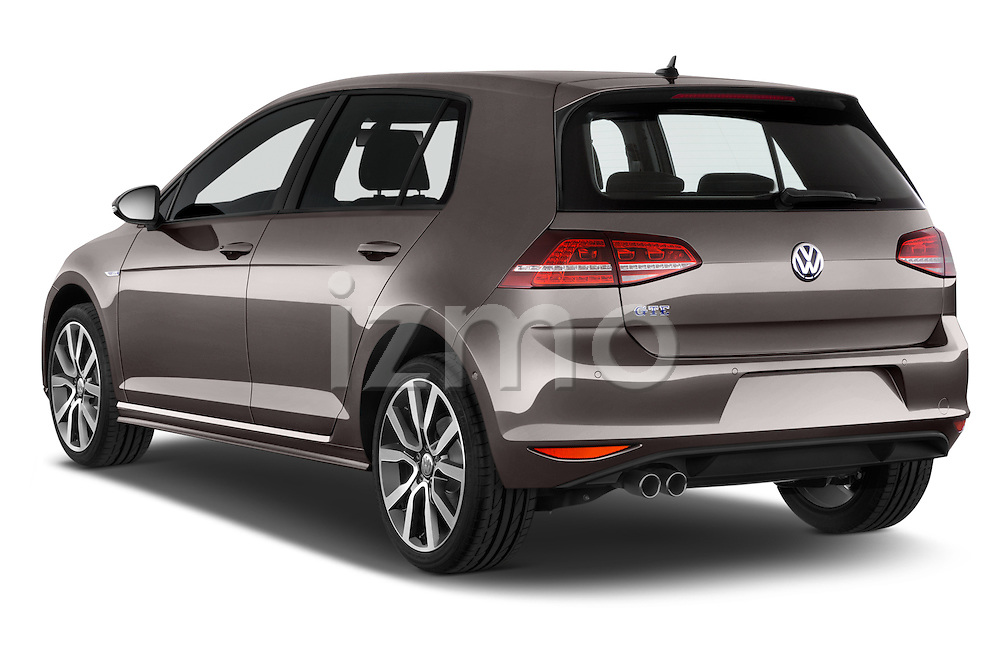 Car pictures of rear three quarter view of a 2015 Volkswagen Golf GTE 5 Door Hatchback 2WD Angular Rear