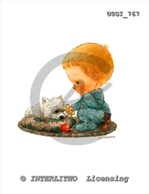 GIORDANO, CHILDREN, KINDER, NIÑOS, paintings+++++,USGI767,#K# ,everyday